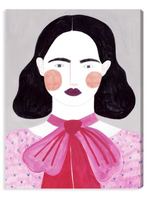 Lady in Pink Canvas Art
