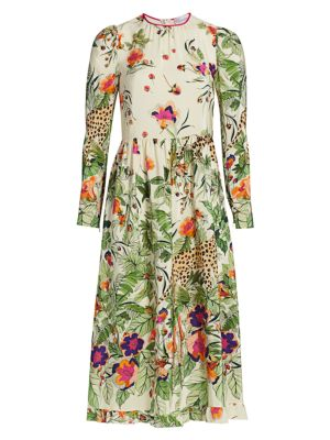 St Felines Floral Midi Dress