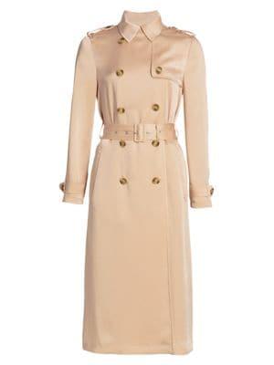 Fluido Satin Trench Coat