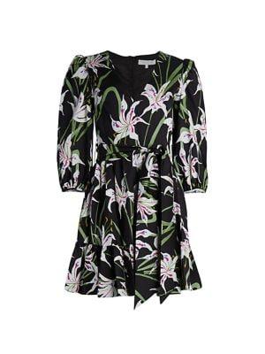 Anita Floral Poplin Dress
