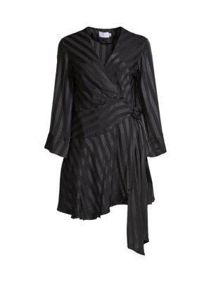 Serenity Wrap Contrast Satin Dress