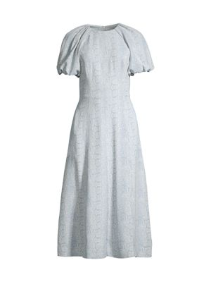 Dondra Fit & Flare Tonal Print Dress
