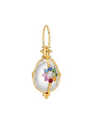 Celestial Stella 18K Yellow Gold & Multi-Stone Amulet