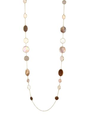 Polished Rock Candy 18K Yellow Gold Mother-Of-Pearl & Shell Crazy 8's Long Necklace