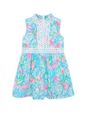 Little Girl's & Girl's Franci Mini Coral A-Line Dress