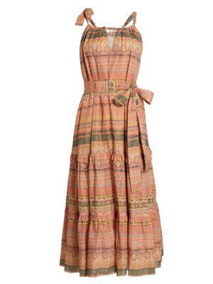 Piura Geometric Midi Dress