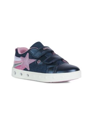 Little Girl's & Girl's Skylin Star Glitter Mix Media Sneakers
