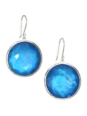 Wonderland Large Sterling Silver & Mother-Of-Pearl Doublet Drop Earrings
