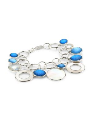 Wonderland Sterling Silver, Mother-Of-Pearl & Doublet Chain-Link Bracelet