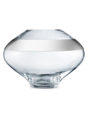Dou Round Glass & Stainless Steel Vase