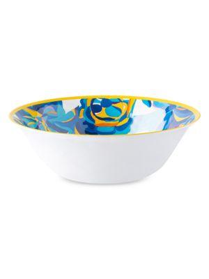 Blue Rose Melamine Serving Bowl