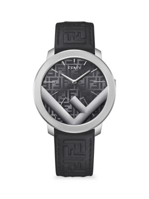 Run Away Stainless Steel & Leather-Strap Watch