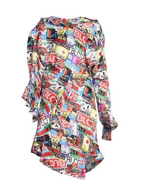Twisted Silk Mini Dress