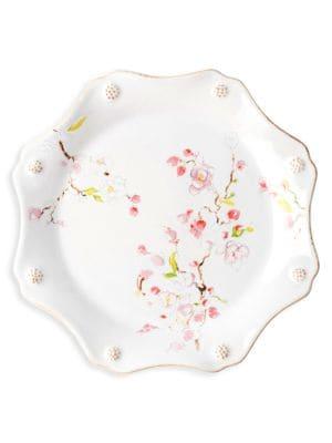 Berry & Thread Floral Sketch Dessert/Salad Plate