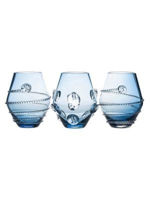 3-Piece Amalia & Florence Assorted Mini Glass Vases
