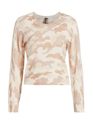 Camo Crewneck Cashmere Sweater