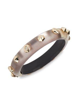 Crystal Studded Lucite Hinge Bracelet