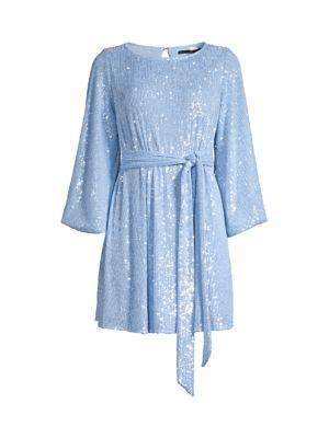 Maggie Sash Sequin Mini Dress