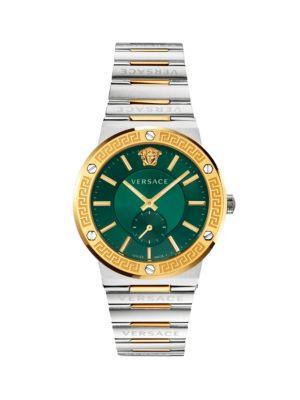 Greco Logo Two-Tone Chronograph Bracelet Watch