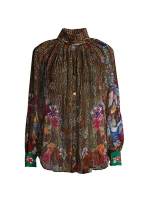 Mythical Creatures Silk Blouse