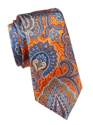 Quindici Exploded Paisley Silk Tie