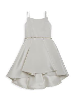 Girl's Demi Two-Tone Hi-Lo Dress