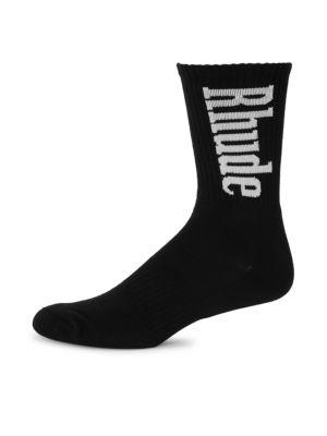 Vertical Logo Crew Socks