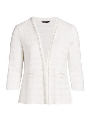 Check Silvertone Trim Jacket