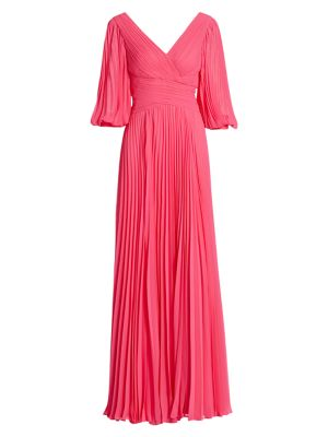 Chiffon Pleated Gown
