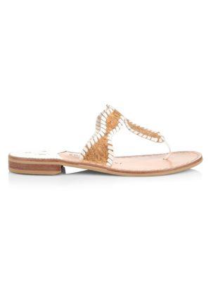 Jackie Flat Whipstitch Cork Thong Sandals