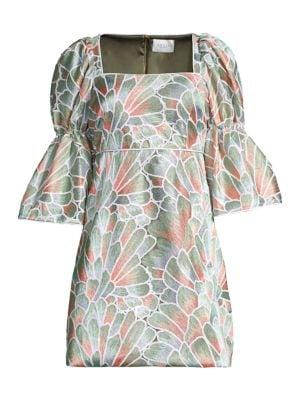 Puff Wide-Sleeve Dress
