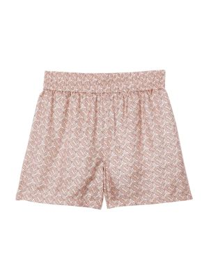 TB Monogram Silk Shorts