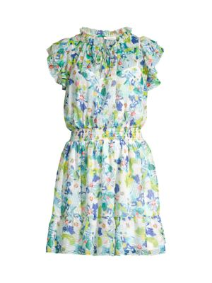 Amine Floral Ruffle Dress