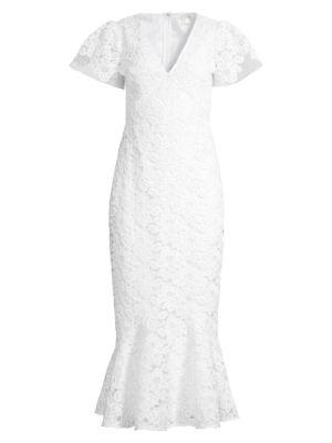 Cereza Lace Flounce Dress