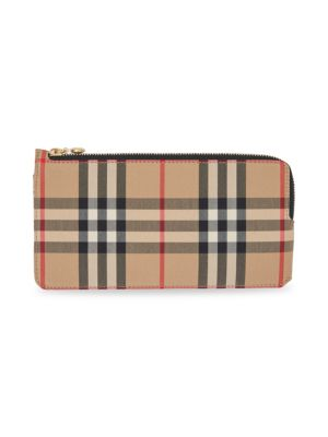 Raley Vintage Check Leather Card Case