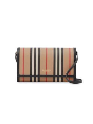 Hannah Icon Stripe Wallet-On-Strap