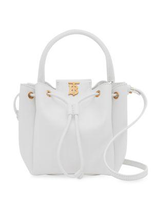 TB Leather Bucket Bag