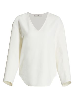 Chalky Drape Sculpted Top
