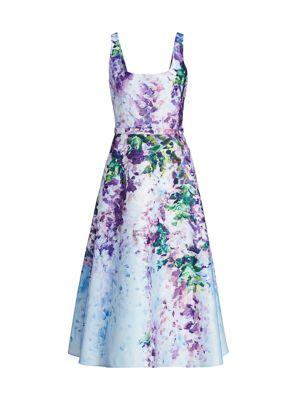 Floral Satin Fit & Flare Dress