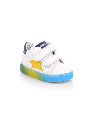 Baby's & Little Boy's Star Leather Grip-Tape Sneakers