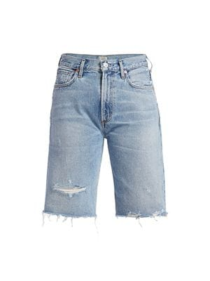 Libby Relaxed Distressed Denim Shorts