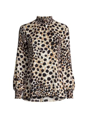 Camden Spotted Silk Blouse