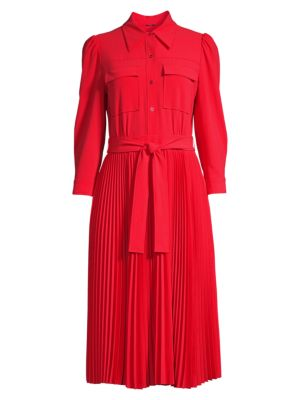 Ere Pleated Shirtdress
