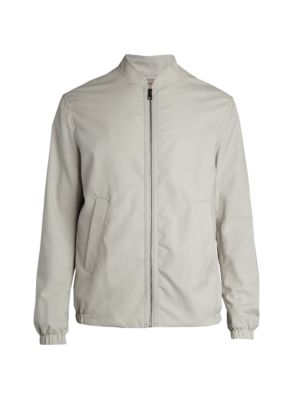 COLLECTION Water Repellent Wool Bomber Jacket