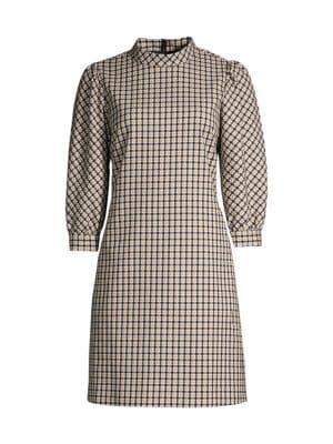 Emilia Check Printed Dress