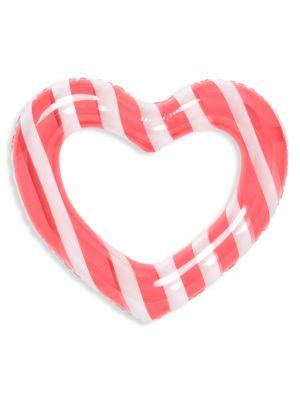Float On Heart Striped Inner Tube