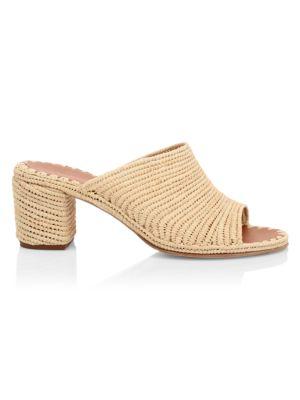 Rama Raffia Straw Block Heel Sandals