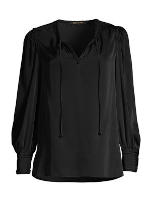 Alessandra Drawstring Chiffon-Silk Blouse