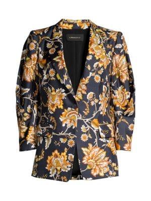 Maria Floral Silk Jacket