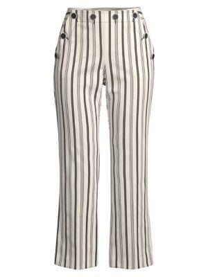 Lyric Striped Cropped Pants